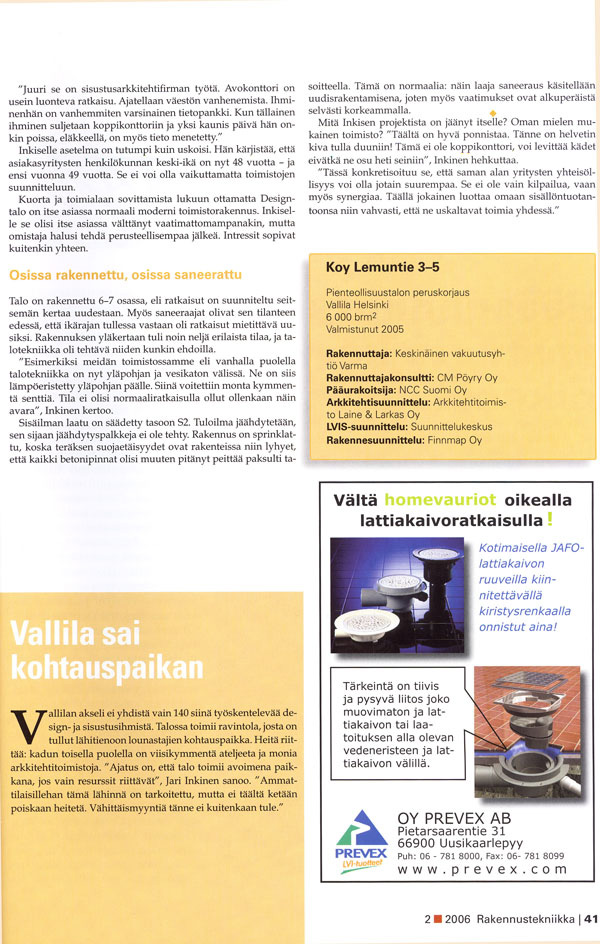 Rakennustekniikka 2006 4