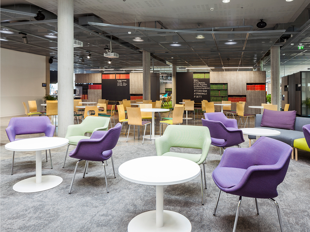The campus library in Meilahti is now a meeting place for